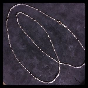 Jewelry - 1.7mm Sterling plated rolo chain